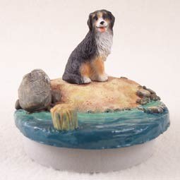 "Bernese Mountain Dog Candle Topper Tiny One ""A Day on the Beach"""