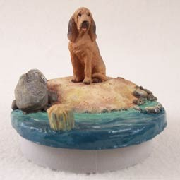 "Bloodhound Candle Topper Tiny One ""A Day on the Beach"""