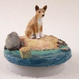 "Basenji Candle Topper Tiny One ""A Day on the Beach"""