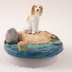 "Borzoi Candle Topper Tiny One ""A Day on the Beach"""