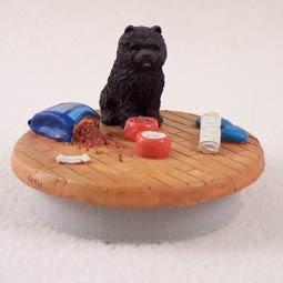 "Chow Black Candle Topper Tiny One ""A Day at Home"""