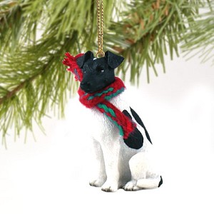 Fox Terrier Black & White Original Ornament