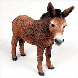 Red Donkey Figurine