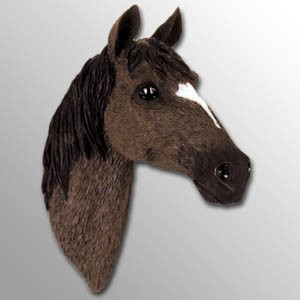 Chestnut Horse w/Star & Stripe Marking Magnet