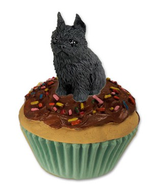 Brussels Griffon Black Pupcake Trinket Box