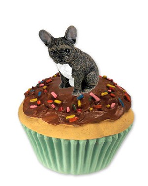 French Bulldog Pupcake Trinket Box