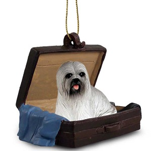 Lhasa Apso Gray Traveling Companion Ornament
