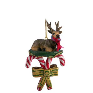 Elk Bull Candy Cane Ornament