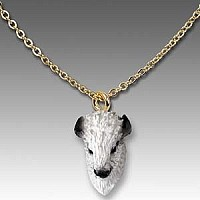 Buffalo White Tiny One Head Pendant