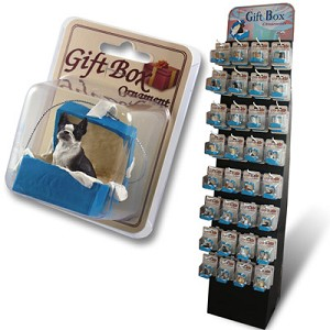 Gift Box Blue Ornaments Prepack
