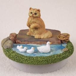"Red Persian Candle Topper Tiny One ""A Day on the Lake"""