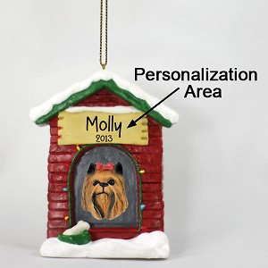 Yorkshire Terrier House Ornament (Personalize-It-Yourself)