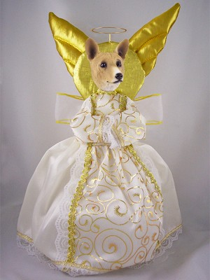 Basenji Doogie Collection Angel Tree Topper