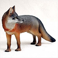Fox Gray Standard Figurine