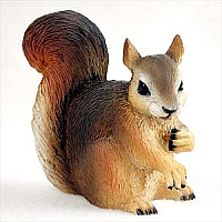 Squirrel Red Standard Figurine