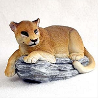 Cougar on Rock Standard Figurine