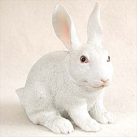 Rabbit White Standard Figurine