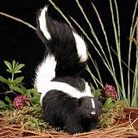 Skunk Fur Figurine