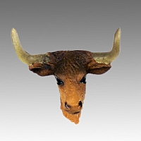 Long Horn Steer Tiny One head
