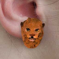 Lion Earrings Post