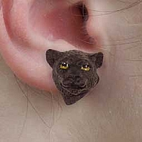 Panther Earrings Post