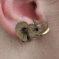 Elephant Earrings Post