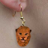 Lion Earrings Hanging
