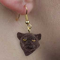 Panther Earrings Hanging