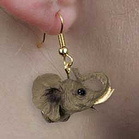 Elephant Earrings Hanging