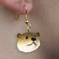 Beaver Earrings Hanging