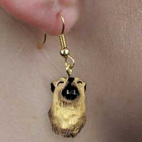 Wolf Timber Earrings Hanging