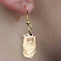 Wolf Gray Earrings Hanging