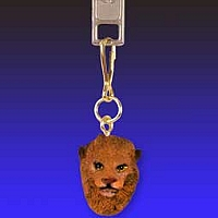 Lion Zipper Charm