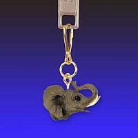 Elephant Zipper Charm