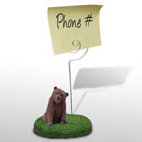 Bear Grizzly Memo Holder