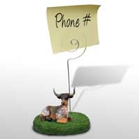 Long Horn Steer Memo Holder