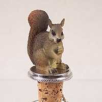 Squirrel Red Bottle Stopper