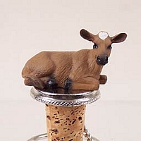 Guernsey Cow Bottle Stopper