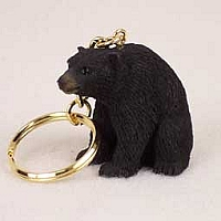 Bear Black Key Chain