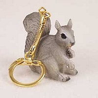 Squirrel Gray Key Chain