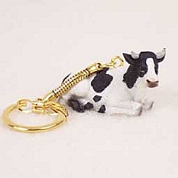 Holstein Bull Key Chain