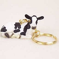 Holstein Cow Key Chain