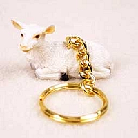 Goat White Key Chain
