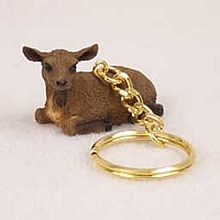 Goat Brown Key Chain