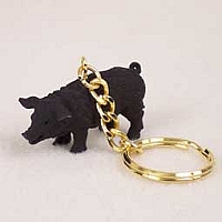 Pig Black Key Chain