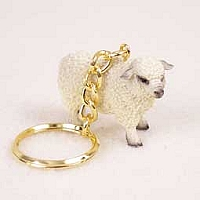Sheep White Key Chain