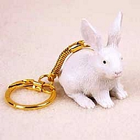 Rabbit White Key Chain
