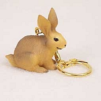 Rabbit Brown Key Chain