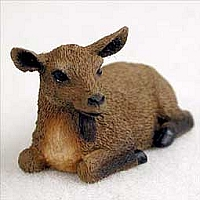 Goat Brown Tiny One Figurine