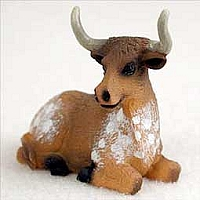 Long Horn Steer Tiny One Figurine